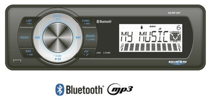 Radio Aquatic media center dock station interno. Bluetooth - 72W x 4canales